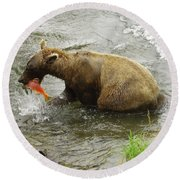 Grizzly Great Catch Round Beach Towel