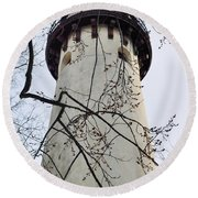 Grosse Point Lighthouse Tower Round Beach Towel