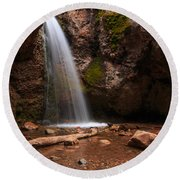 Grotto Falls Round Beach Towel