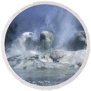 Grotto Geyser - Yellowstone National Park Round Beach Towel