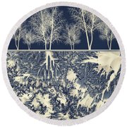 Grounded Round Beach Towel