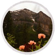 Grounds At Lake Louise Round Beach Towel