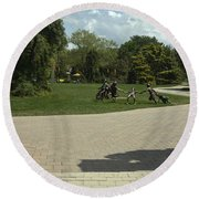 Grounds For Sculpture Round Beach Towel