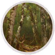 Group Of Trees Round Beach Towel
