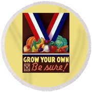 Grow Your Own Victory Garden Round Beach Towel