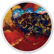 Growing Pains Round Beach Towel