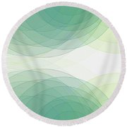 Growth Semi Circle Background Horizontal Round Beach Towel