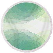 Growth Semi Circle Background Horizontal Round Beach Towel