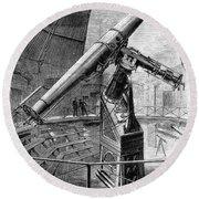Grubb Refractor Telescope, Vienna, 1881 Round Beach Towel