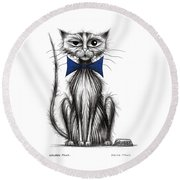 Grubby Paws Round Beach Towel
