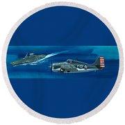 Grumman F4rf-3 Wildcat Round Beach Towel