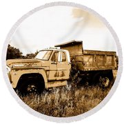 Grump The Ford Dump Truck Round Beach Towel