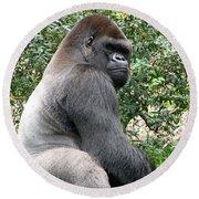 Grumpy Gorilla Round Beach Towel