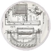Grundy Typewriter Patent 1889 Round Beach Towel