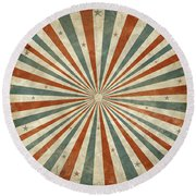 Grunge Ray Retro Design Round Beach Towel