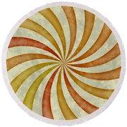 Grunge Swirl Round Beach Towel