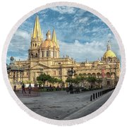 Guadalajara Cathedral Round Beach Towel