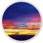Guam Sunrise I 10/2015 Round Beach Towel