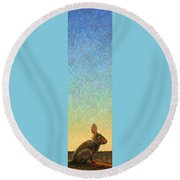 Guard Round Beach Towel by James W Johnson