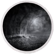 Guardian Of The Forest II Round Beach Towel