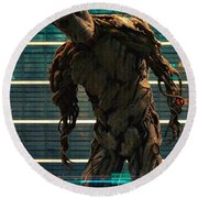 Guardians Of The Galaxy Round Beach Towel