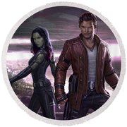 Guardians Of The Galaxy Vol. 2 Round Beach Towel