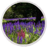Guardian Of The Lupine Round Beach Towel