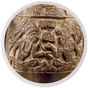 Guatemala: Mayan Vase Round Beach Towel