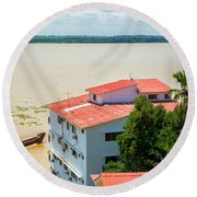 Guayaquil River View Round Beach Towel