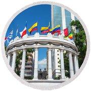 Guayaquil Rotonda Round Beach Towel