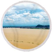 Guayas River View Round Beach Towel