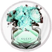 Gucci Blue Perfume Round Beach Towel