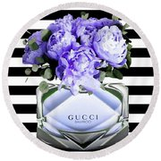 Gucci Perfume Violet Round Beach Towel