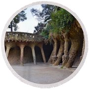 Guell Style Round Beach Towel