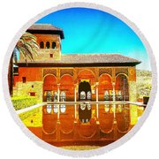 Guest House At The Alhambra Round Beach Towel