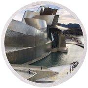 Guggenheim Bilbao Museum Round Beach Towel