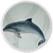 Guiana River Dolphin Round Beach Towel