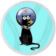 Guilty  Round Beach Towel by Andrew Hitchen