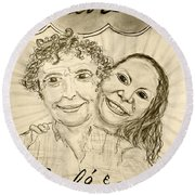 Guinevere's Cafe And Bistro Round Beach Towel