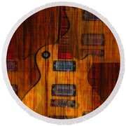 Guitar Army Round Beach Towel