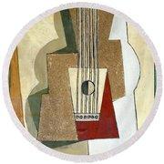 Guitar, By Pablo Picasso, 1919, Kroller-muller Museum, Hoge Velu Round Beach Towel