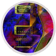 Guitars Round Beach Towel