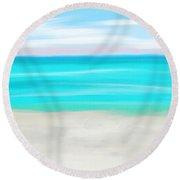 Gulf Beach Round Beach Towel