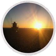 Gulf Coast Sunset Round Beach Towel