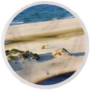 Gulf Of Mexico Dunes Round Beach Towel