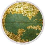 Gulf Of Mexico, States Of Central America, Cuba And Southern United States Round Beach Towel