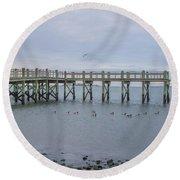 Gulf Pier Round Beach Towel