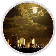 Gulf Shores Night Skys Round Beach Towel