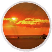 Gulf Sunset Round Beach Towel