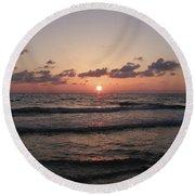 Gulf Sunset Round Beach Towel
